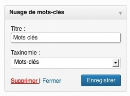 Suppression du widget