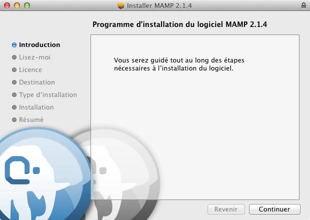 L'installation MAMP sur Mac