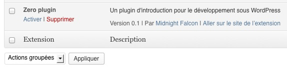 Le plugin est reconnu par WordPress