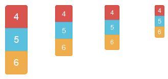 Plusieurs dimensions de groupement de boutons