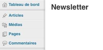 La page newsletter