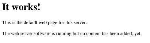 La page d'accueil sur Linux