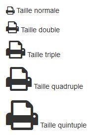Réglage de la taille des icônes