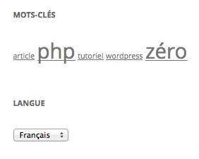 Le widget de qTranslate