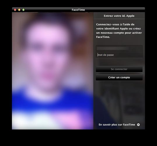 Connexion avec votre identifiant AppleID