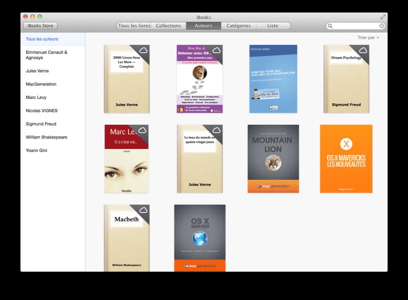 Votre bibliothèque iBooks