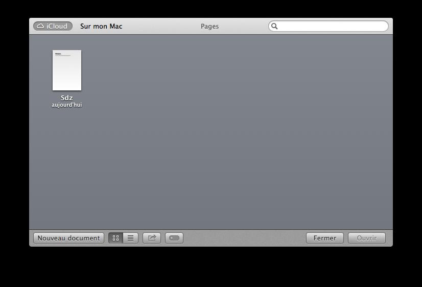 Enregistrement dans iCloud