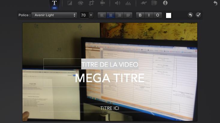 Modifier le texte d'une vidéo