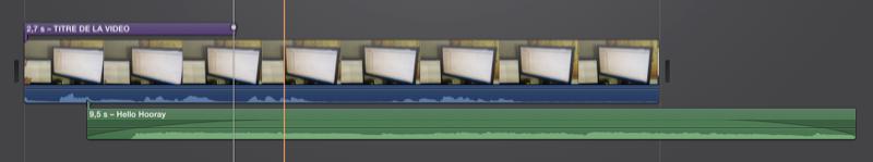 Notre film avec une piste vidéo, audio et du texte