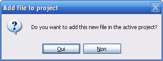 Ajouter un fichier au projet