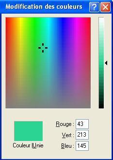 Sélection d'une couleur