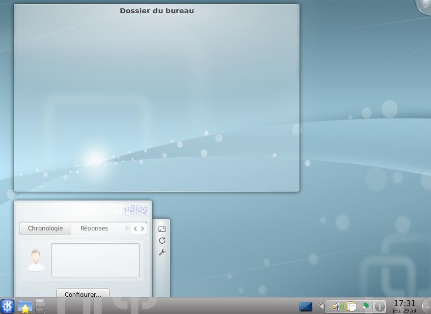 Le bureau de KDE