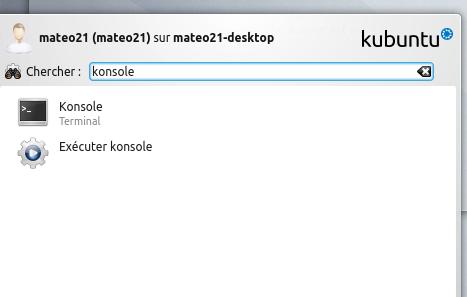 La console de KDE