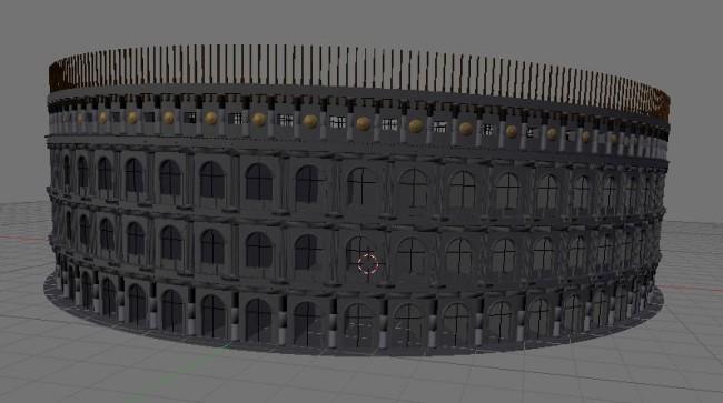 … et ensuite, je la duplique circulairement pour obtenir le fameux Colisée de Rome.