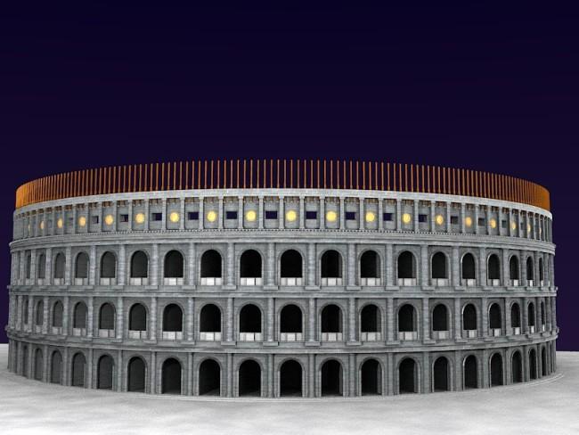 Voici le rendu du Colisée !
