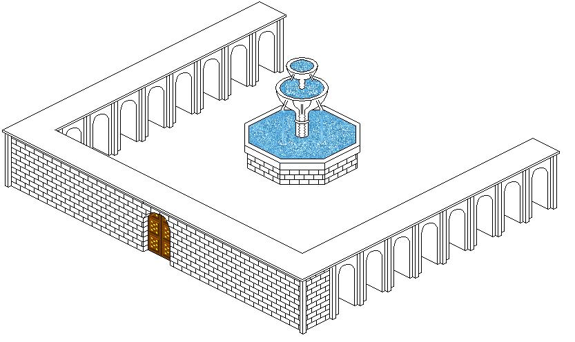 Wip Sorte De Chateau Fort En Pixel Art 3d Isométrique