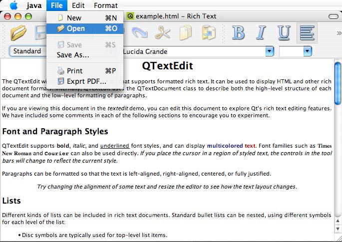 Programme Qt sous Mac OS X