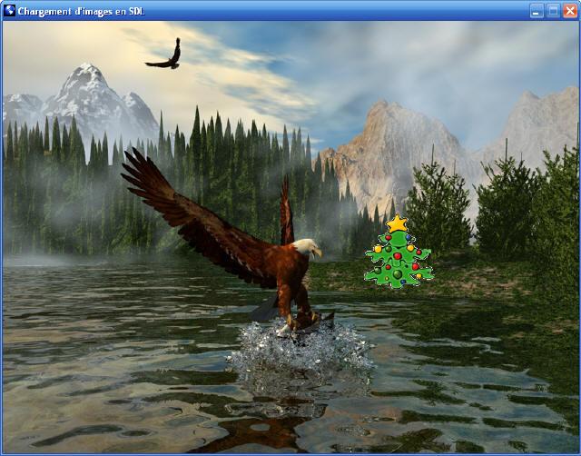 Une image PNG transparente insérée à l'aide de SDL_image