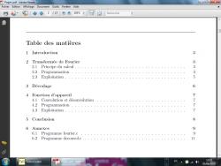 un sommaire en LaTeX