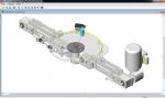 Exemple d'un système sur Solidworks auquel nous avons du rajouter le flacon.