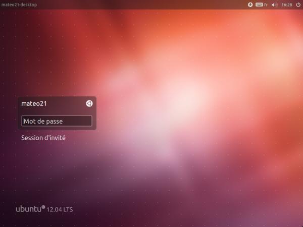 Connexion à Ubuntu