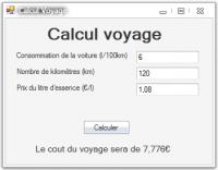 TP de calcul de voyage sous VB .NET