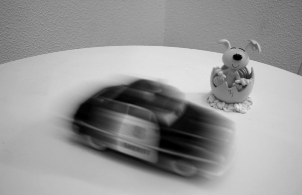 Exemple de flou de mouvement dans une photographie