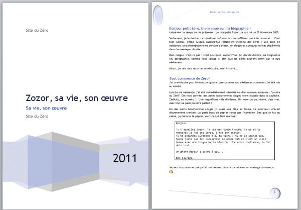 Les deux premières pages du document