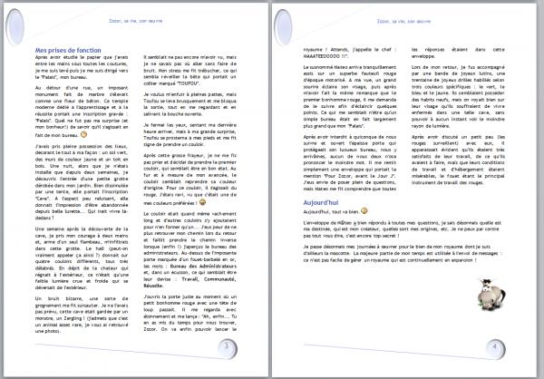 Les deux dernières pages du document