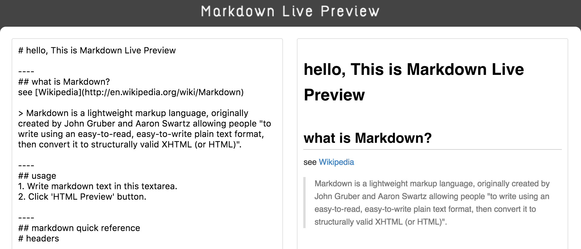 how to write in markdown