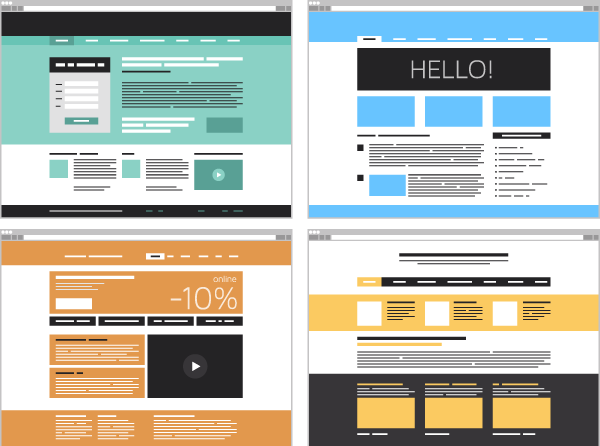 Exemples de composition de landing-pages