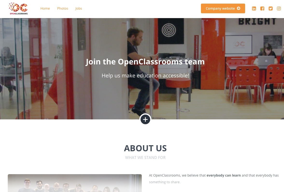 Our careers site