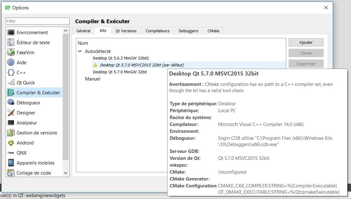 Utiliser Compilateur C De Msvc Avec Qt Creator Par Mw72