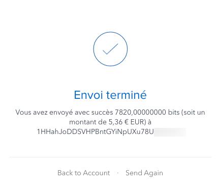 Les Bitcoins ont été transférés !