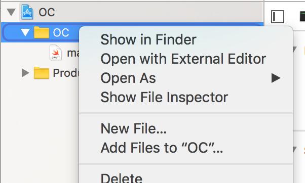 Création d'un nouveau fichier Swift (1/4)
