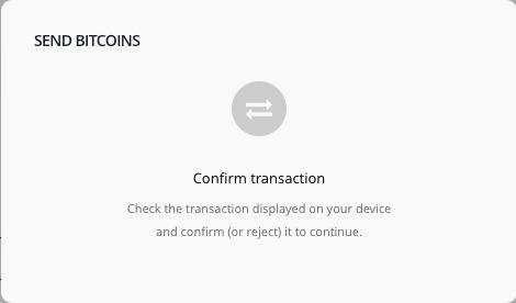 L'application n'a pas accès aux clés : vous devez confirmer sur le Ledger