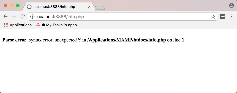 Affichage des erreurs dans le navigateur web