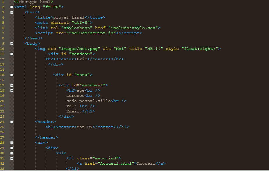 mon projet html