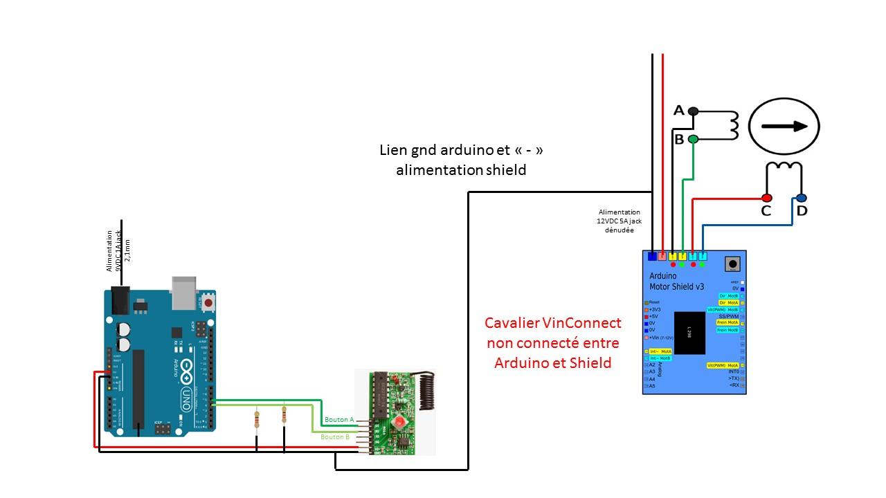 Alimenter Arduino Moteur 12v Avec 1 Batterie Par