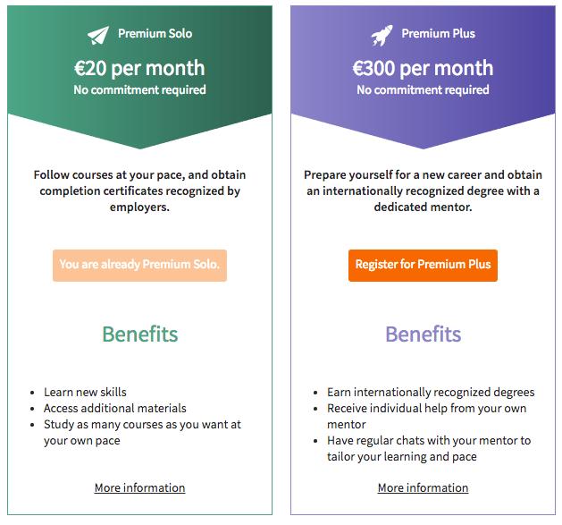 OpenClassrooms Premium offers