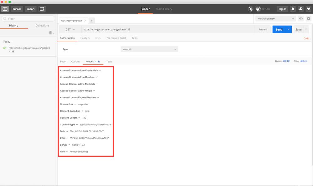 Afficher les headers de la réponse HTTP