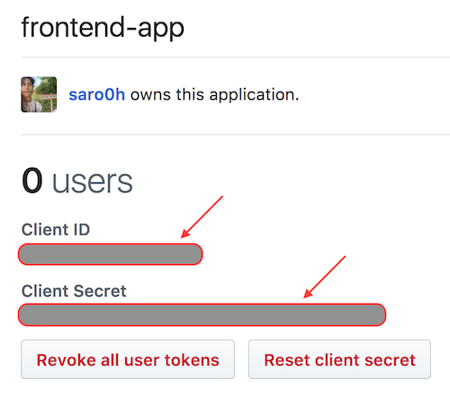 Application OAuth créée