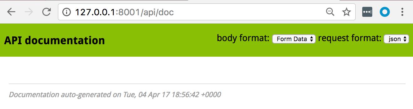 Page par défaut de documentation