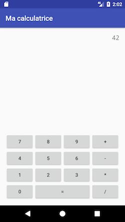 Visuel proposé pour la calculatrice