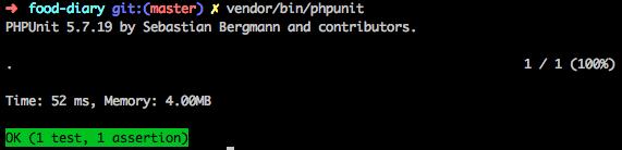 Lancement des tests PHPUnit