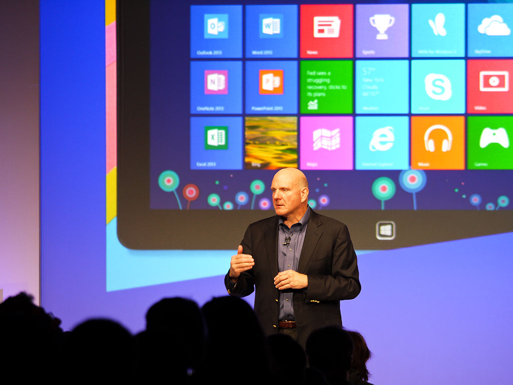 Dell Inc. (Windows 8 Launch - Steve Ballmer) - CC BY 2.0 - Wikimedia Commons