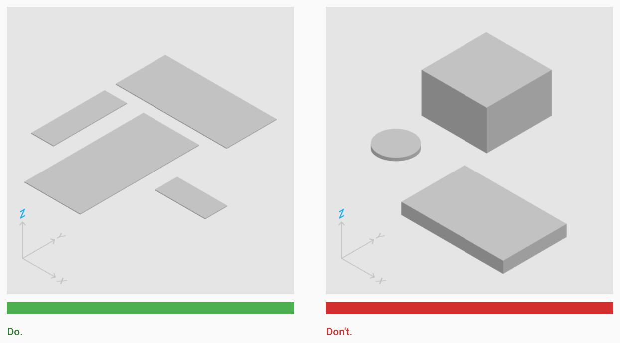 Material Design - Properties - Google Guidelines