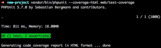 Génération de la couverture de code