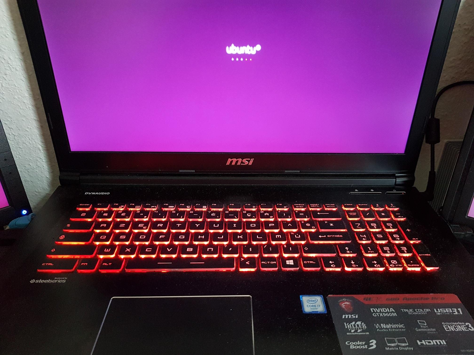 Installation Ubuntu se bloque sur le logo par electronic100