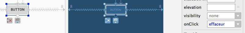 Association d'une méthode à onClick via le design